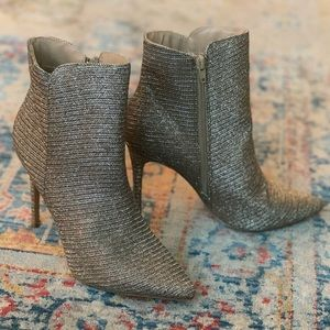 Gold Stiletto Ankle Boots